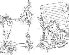 Girl line art