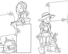 line art gardening